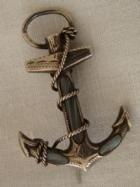 Anchor Brooch - Victorian Sterling Silver set with Grey Banded Agate 1898 (sold)
